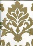 Diamond Wallpaper Balgari 12-Brass By Wemyss Covers Wallcoverings
